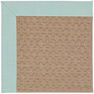 Lisle Machine Tufted Iceberg/Brown Indoor/Outdoor Area Rug