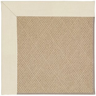 Lisle Machine Tufted Sandy and Brown Indoor/Outdoor Area Rug