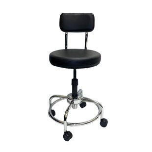 Height Adjustable Lab Stool with Free Spin Lift
