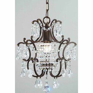 Labombard 1-Light Crystal Foyer Pendant by Ophelia & Co.