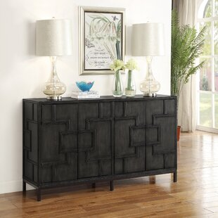 Candide Dark Gray Wood Credenza by Bloomsbury Market