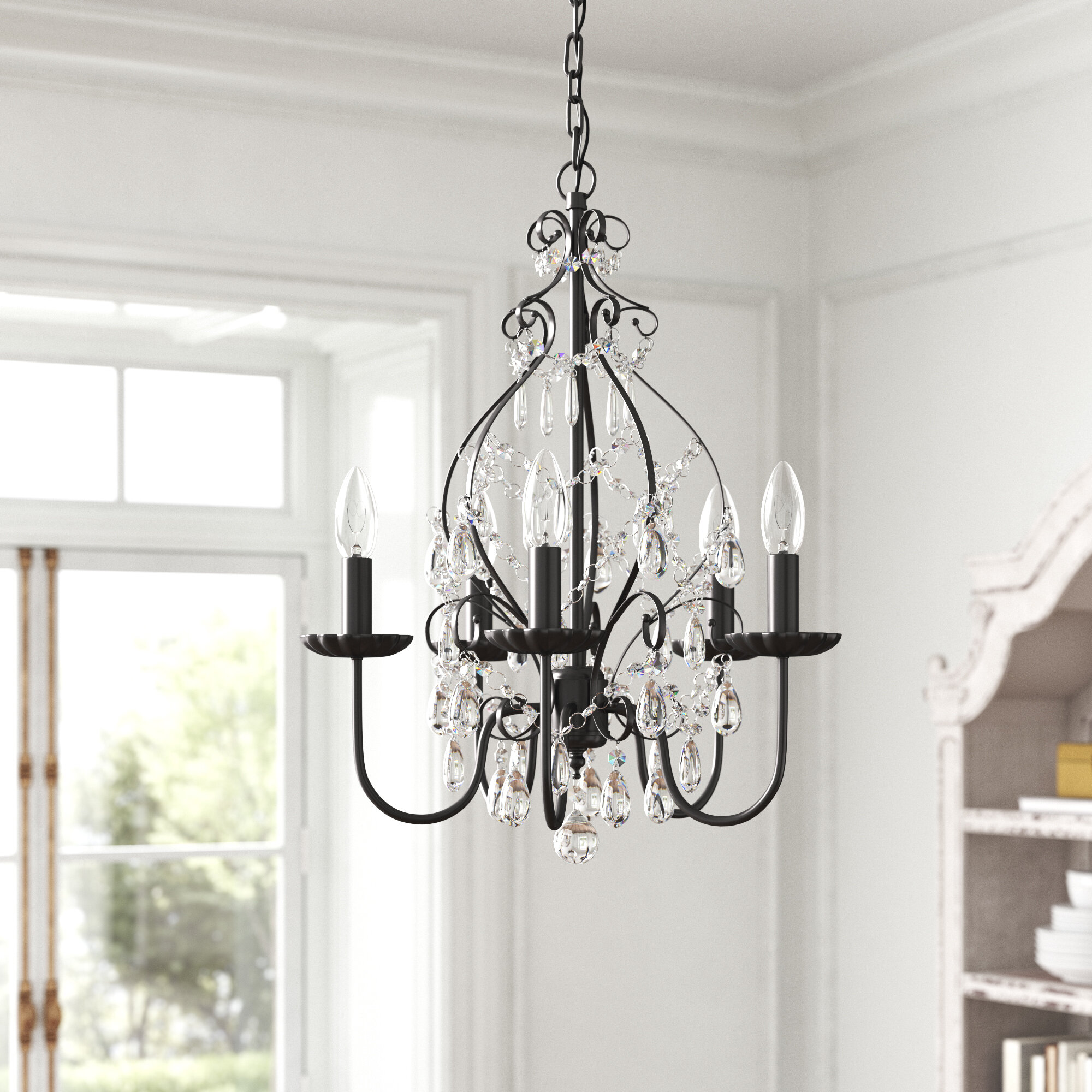 Kelly Clarkson Home Julianne 5 Light Candle Style Classic Chandelier Reviews Wayfair