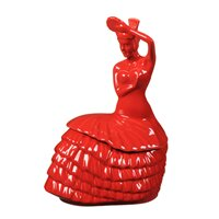 Dancing Lady 2.40 qt. Cookie Jar