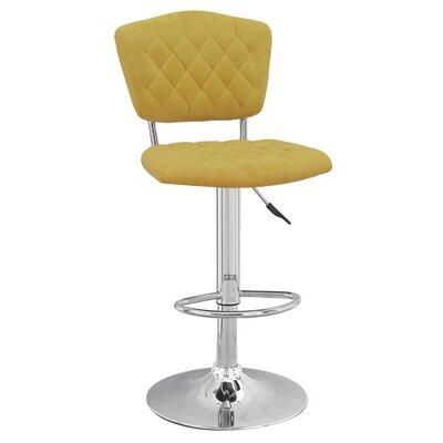 Astonishing Adjustable Height Swivel Bar Stool Adecotrading Color Yellow Theyellowbook Wood Chair Design Ideas Theyellowbookinfo
