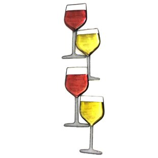 Best Metal Wine Glass Wall Decor