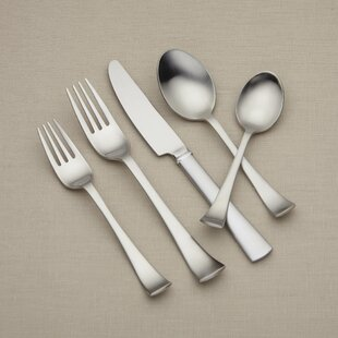 Cafe Blanc 5 Piece Flatware Set, Service for 1