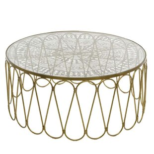 Cevenola Wire Work Coffee Table with Tray Top