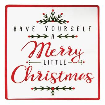 Have Yourself A Merry Little Christmas Sign.Have Yourself A Merry Little Christmas Square Enameled Wall Decor