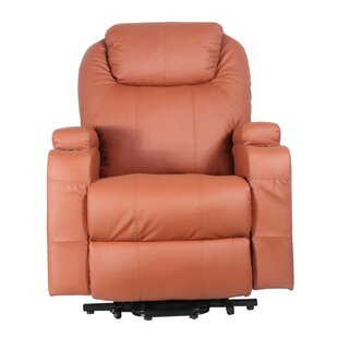 Power Lift Assist Leather Massage Chair by Latitude Run
