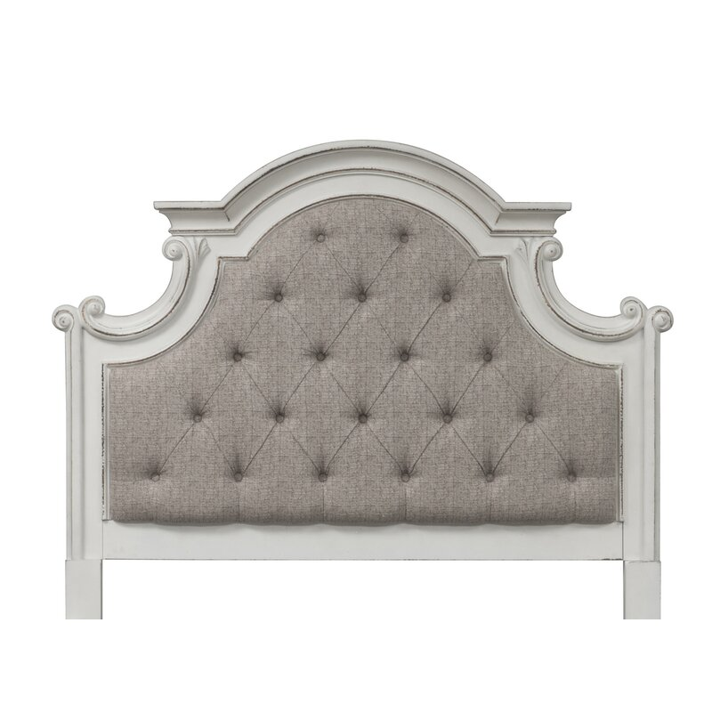 One Allium Way Treport Upholstered Panel Headboard