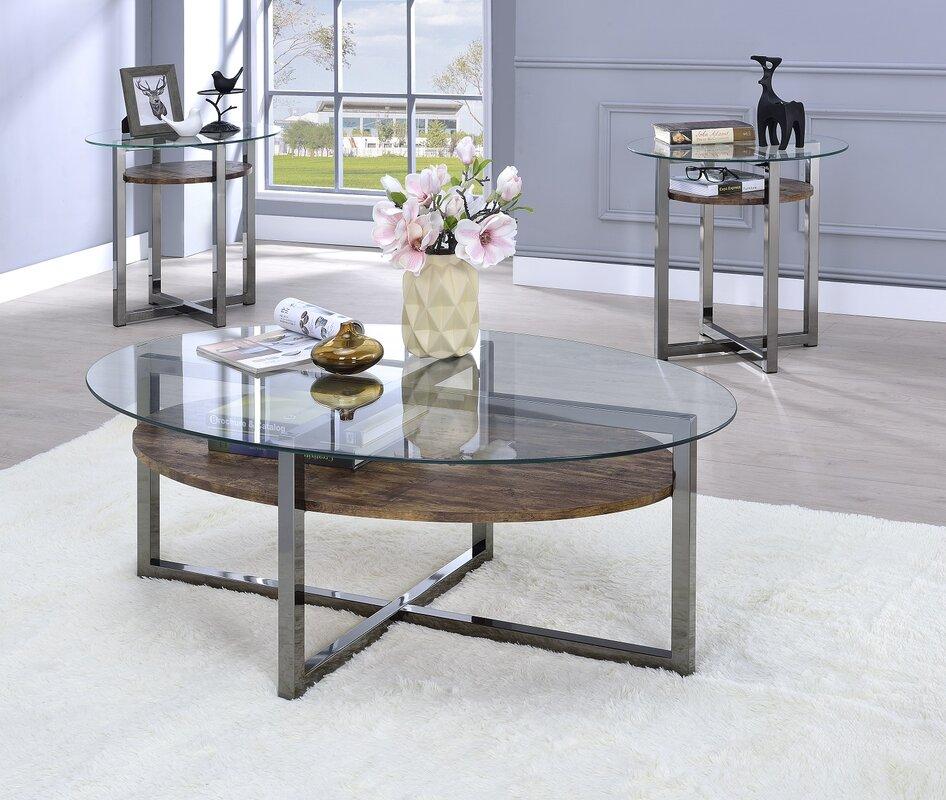 Delightful Melora 2 Piece Coffee Table Set