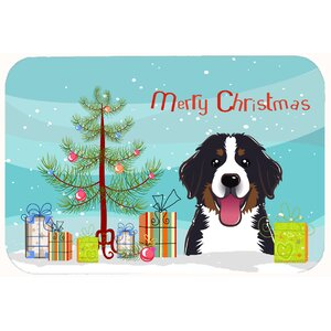 Christmas Tree and Bernese Mountain Dog Kitchen/Bath Mat
