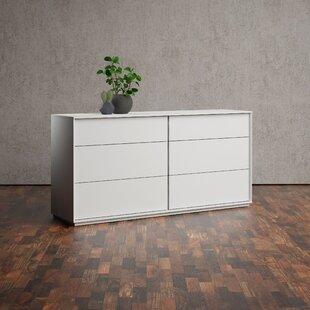 Orren Ellis Lafortune 6 Drawer Double Dresser