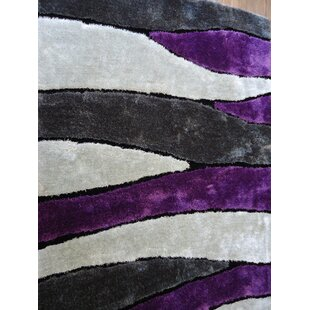 Bargain Hand-Tufted Gray/Purple Area Rug By Rug Factory Plus