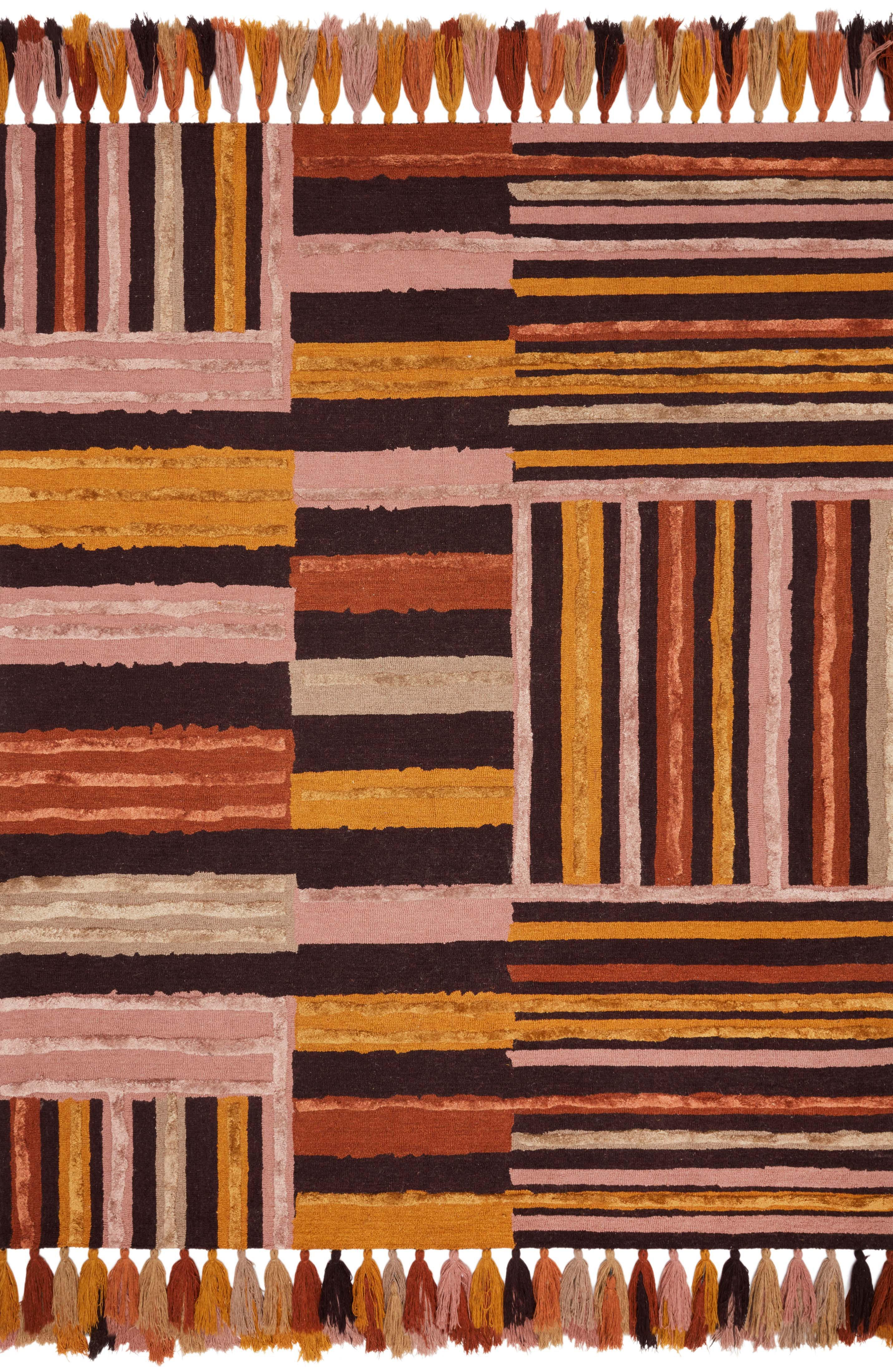 Justina Blakeney X Loloi Jamila Hand Hooked Wool Purple Pink Yellow Brown Area Rug Wayfair