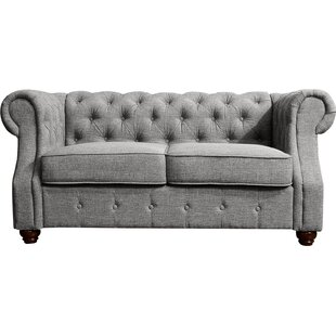 Best  Evart Chesterfield Loveseat Darby Home Co