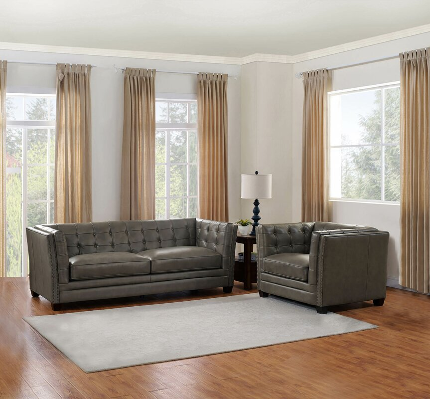 17 Stories Dierking 2 Piece Living Room Set