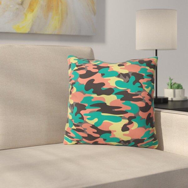 East Urban Home Paintball Camo Polyester Throw Pillow Wayfair