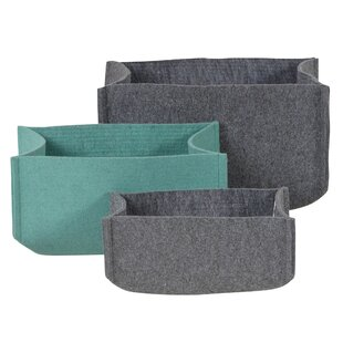 Fabric 3 Piece Basket Set By 17 Stories