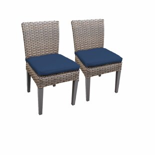 Monterey Armless Patio Dining Chair with Cushion (Set of 2)