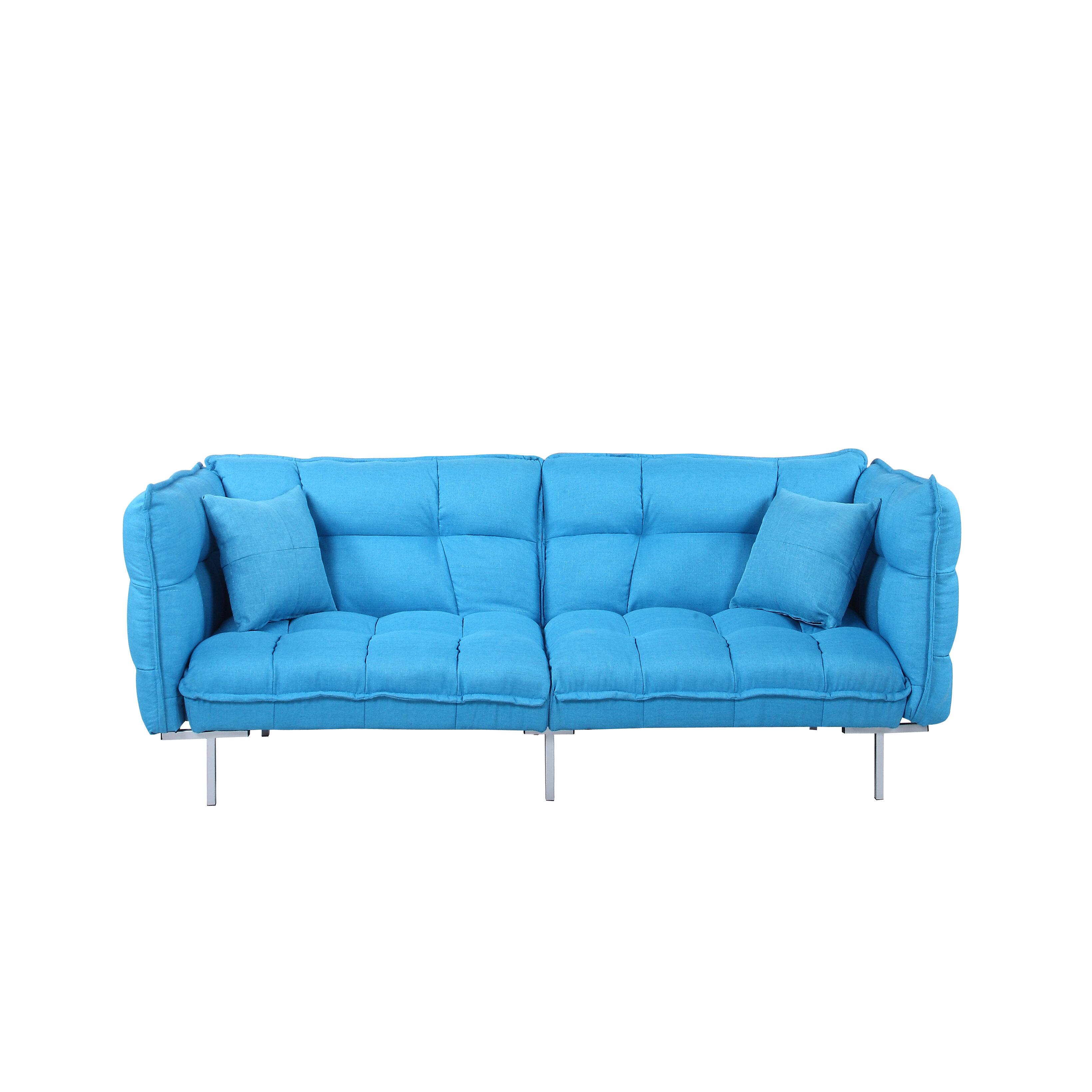 Madison Home Usa Modern Plush Tufted Linen Splitback Living Room Sleeper Sofa Reviews Wayfair