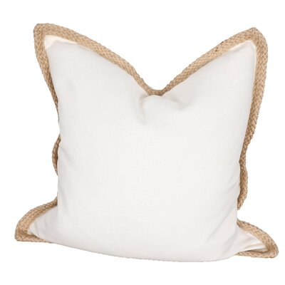 Breakwater Bay Aramantha Feathers Throw Pillow Colour: Off White