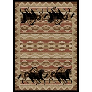 Chateaux Untamed Brown Area Rug