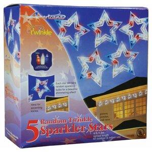 5 Twinkling Patriotic Stars