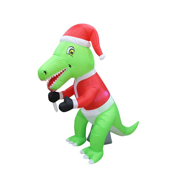 The Holiday Aisle Dinosaur Christmas Inflatable Amp Reviews