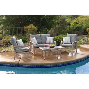 Attwater 4 Piece Sofa Set with Cushions by Darby Home Co
