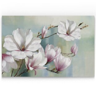 'Magnolia Blooms' Oil Painting Print by House of Hampton