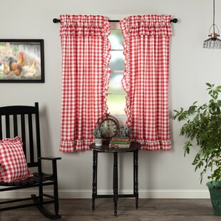 Check Plaid Country Curtains D