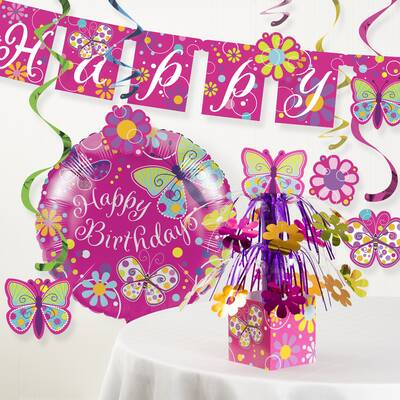 Butterfly Birthday Party Decoration Kit