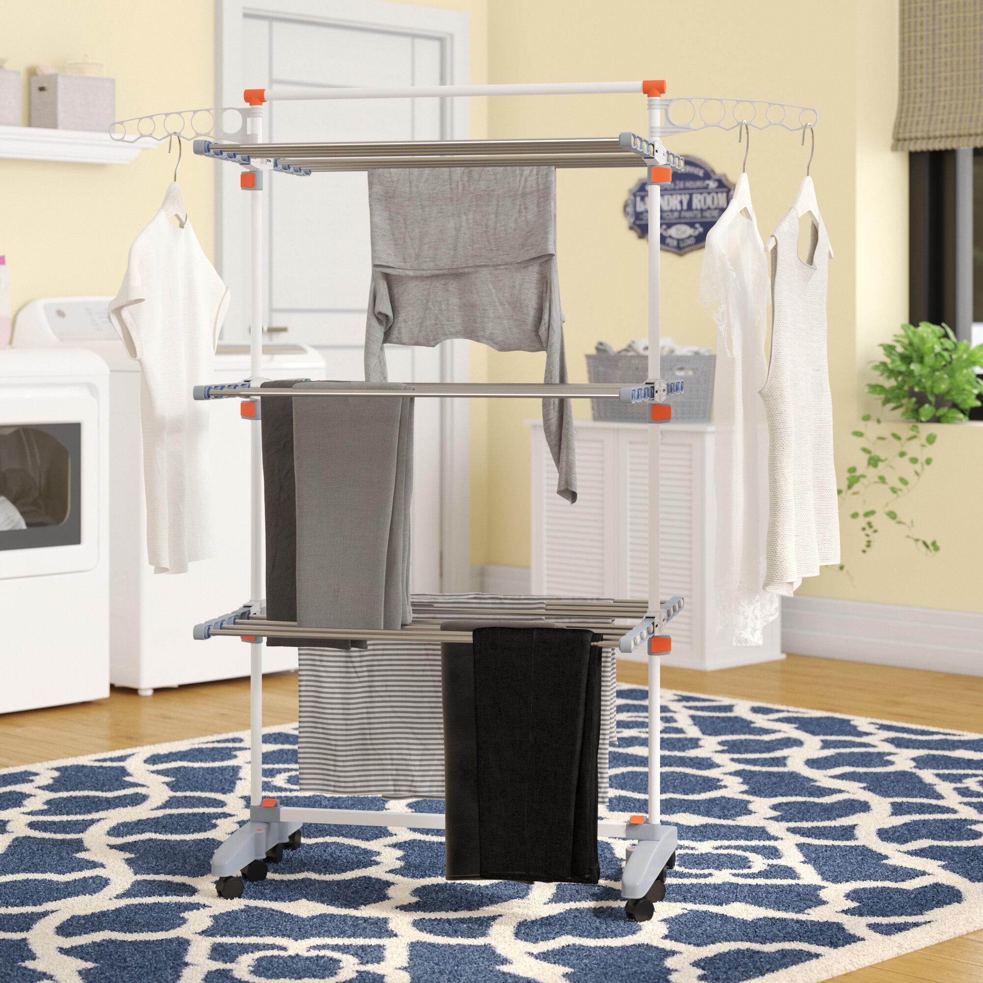 Rebrilliant Premium Clothes Drying Rack Reviews Wayfair