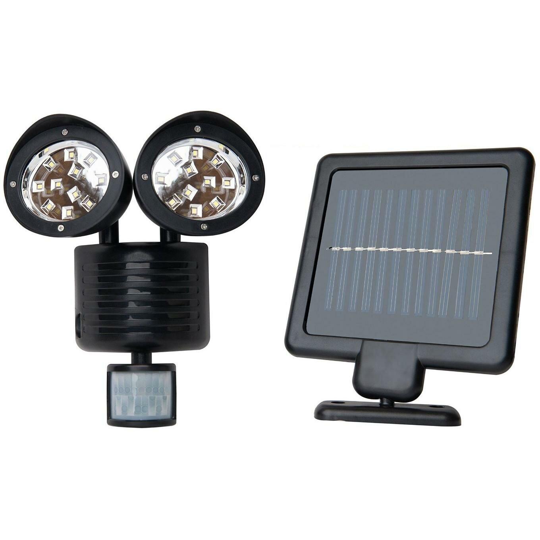 Solar Powered Motion Sensor Lights 22 Led Garage Outdoor Security Flood Spot Light Black Flood Security Lights