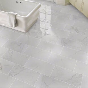 bathroom tile at great prices wayfair rh wayfair com Gray Marble Tile Floor white subway tile gray floor bathroom