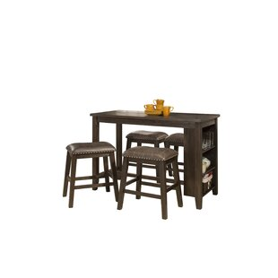 Gracie Oaks Balsam Spencer 5 Piece Counter Height Dining Set
