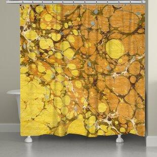 Ebern Designs Castello Marble Shower Curtain