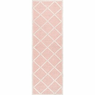 Seo Hand-Hooked Pink Area Rug by Viv   Rae