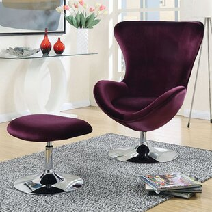 Everly Quinn Kinslee Wingback Chair and Ottoman