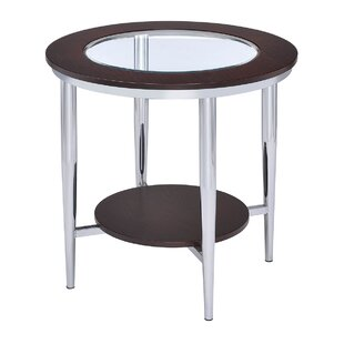 Lera Glass Inserted Top End Table