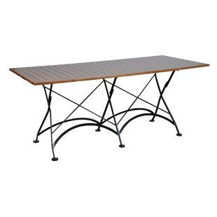 European Caf? Folding Metal Dining Table by Furniture Designhouse