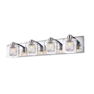 Orren Ellis Thorne Glass 4-Light Vanity Light