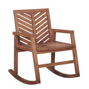 Bearden Outdoor Chevron Rocking Chair by Union Rustic