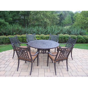 Darby Home Co Vandyne 7 Piece Round Dining Set with Cushions