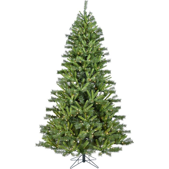 Most Realistic Artificial Christmas Tree.Green Pine Artificial Christmas Tree With 550 Clear White Lights
