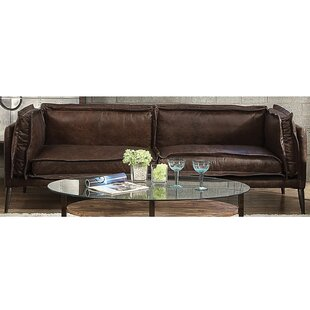 Eilidh Leather Sofa by 17 Stories