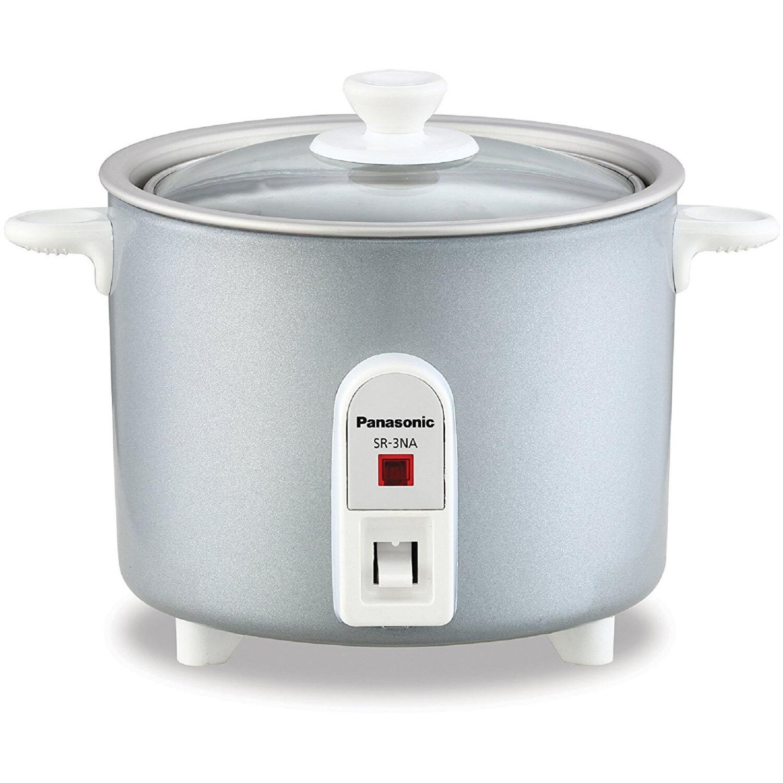 panasonic 1 5 cup mini rice cooker wayfair rh wayfair com Crock Pot 7 Qt Silver Crock Pot