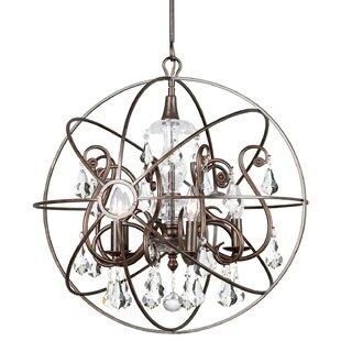 Rosdorf Park Charleston 5-Light Globe Chandelier