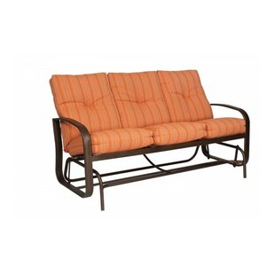 Woodard Cayman Isle Glider Bench with Cushions